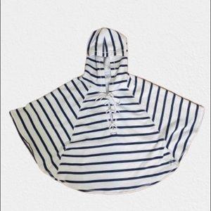 Victoria's Secret Lace Up Sweatshirt Poncho
